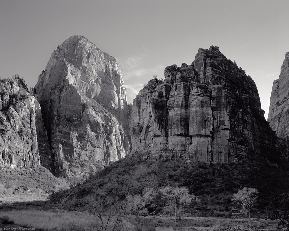 The great white throne and the organ zion national park