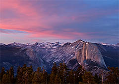 Half Dome from Sentinel Dome, Yosemite National Park, California