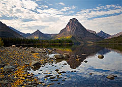 Sinopah Mountain at Two Medicine Lake, Glacier National Park, Montana