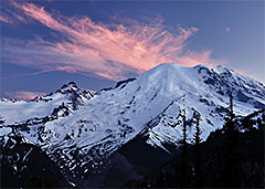 Mount Rainier at Dusk, Mount Rainier National Park, Washington